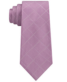 Calvin Klein Men's Broken Windowpane Silk Tie