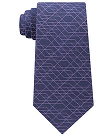 Calvin Klein Men's Geo Optics Silk Tie