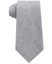 Calvin Klein Men's Gray Denim Solid Tie