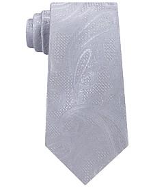 Michael Kors Men's Satin Texture Paisley Silk Tie