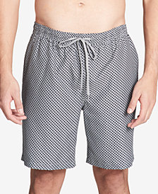 "Calvin Klein Men's Basket Weave-Print 7"" Swim Trunks"