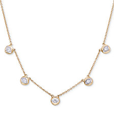 Wrapped™ Diamond Disc Collar Necklace (1/4 ct. t.w.) in 10k Gold, Created for Macy's