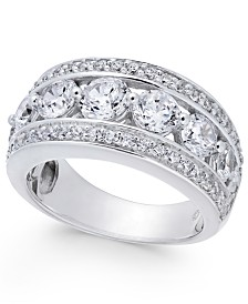 Diamond Fancy Band (3 ct. t.w.) in 14k White Gold