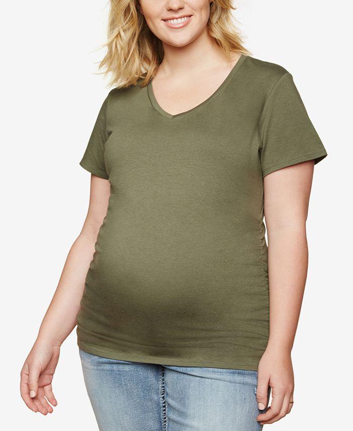 Motherhood Maternity - Maternity Plus Size Ruched T-Shirt