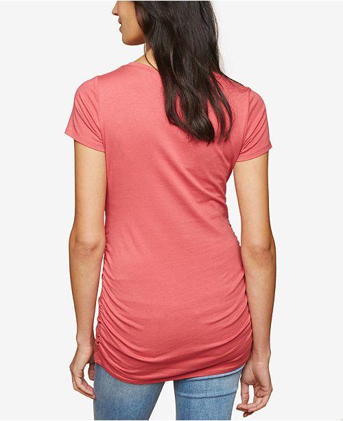 Macys Outlet Nj: Motherhood Maternity Ruched Jersey T-Shirt & Reviews