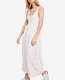 Free People Fresh As a Daisy Embroidered Maxi Dress