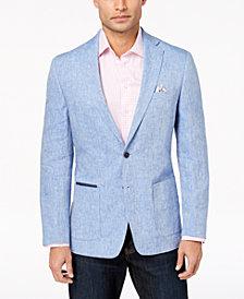Tallia Orange Men's Modern-Fit Blue Mélange Sport Coat