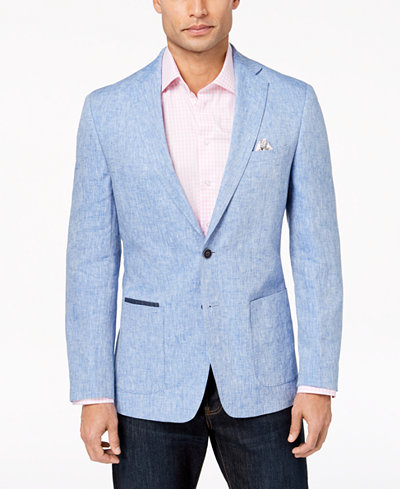 Tallia Orange Men's Modern-Fit Blue Mélange Sport Coat