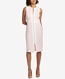 Tommy Hilfiger Zip-Front Scuba Dress