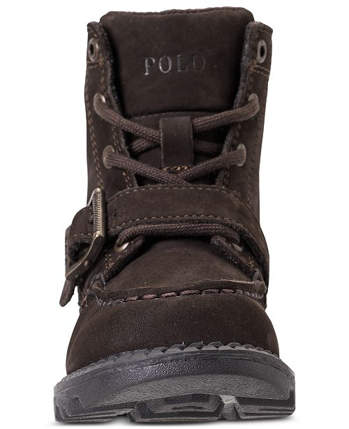 c864593b45c Polo Ralph Lauren Toddler Boys' Ranger High II Bear Boots from ...