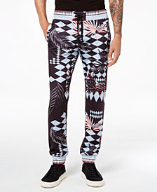 Versace Men's Optical-Print Jogger Pants