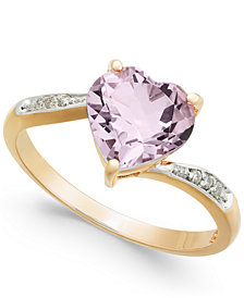 Pink Amethyst (1-3/4 ct. t.w.) & Diamond Accent Ring in 14k Gold