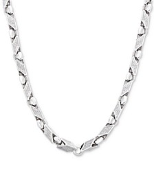 "Men's 24"" Link Chain in Sterling Silver"