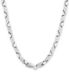 "Men's 24"" Link Chain in Sterling Silver"