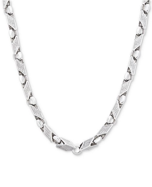 "Macy's Men's 24"" Link Chain in Sterling Silver"