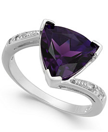 Amethyst (2-3/4 ct. t.w.) & Diamond Accent Ring in 14k White Gold