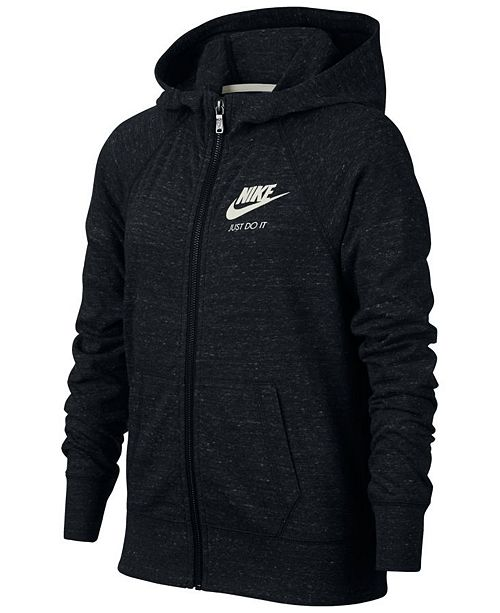 f8be68ab15 Nike Sportswear Zip-Up Hoodie, Big Girls & Reviews - Sweaters - Kids ...