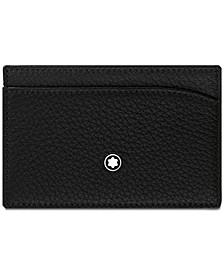 Men's Black Italian Leather Pocket Holder