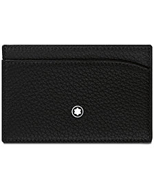 Montblanc Men's Black Italian Leather Pocket Holder