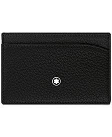 Montblanc Men's Black Italian Leather Pocket Holder