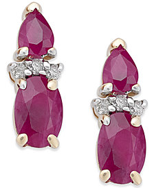 Ruby (1-3/4 ct. t.w.) & Diamond Accent Drop Earrings in 14k Gold
