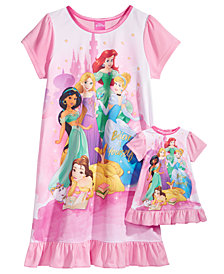 Disney's® Princesses Nightgown with Doll Nightgown, Little Girls & Big Girls