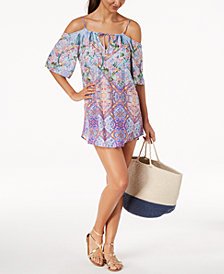 Nanette by Nanette Lepore Festival Cold-Shoulder Tunic Cover-Up