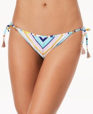 671f50e20f97a NANETTE LEPORE Amalfi Coast Striped Side-Tie Cheeky Bikini Bottoms Women'S  Swimsuit