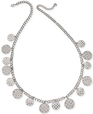 """Silver-Tone Crystal Long Necklace, 30"""" + 2"""" extender, Created for Macy's"""