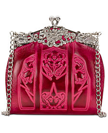 Patricia Nash Burnished Tooled Rosaria Frame Clutch