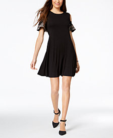 Style & Co Petite Cold-Shoulder Dress, Created for Macy's