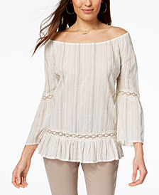 Style & Co Cotton Off-The-Shoulder Top, Created for Macy's