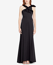 Tahari ASL Satin Bow Gown