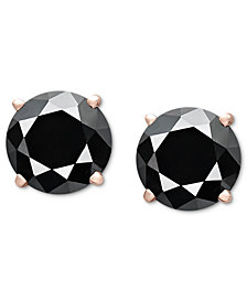 Diamond Stud Earrings (3 ct. t.w.) in 14k Rose Gold
