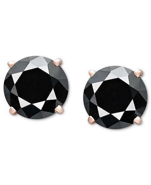 Macy's Diamond Stud Earrings (3 ct. t.w.) in 14k Rose Gold