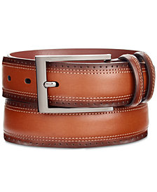 Perry Ellis Portfolio Men's Wing Tip Leather Belt