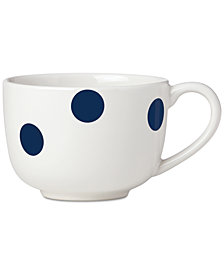 kate spade new york All in Good Taste Deco Dot Cobalt Latte Mug