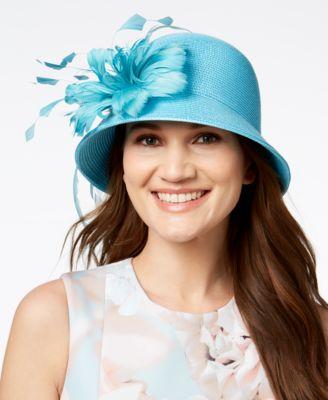 August Hats Jet Dressy Cloche