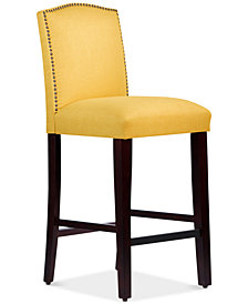 Callon Linen Bar Stool, Quick Ship