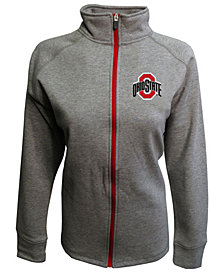 J America Women's Ohio State Buckeyes Raschel Full-Zip Jacket