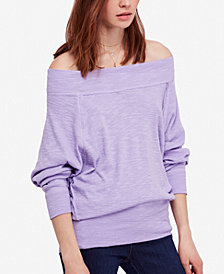 Free People Palisades Off-The-Shoulder Sweater