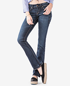 Silver Jeans Co. Juniors' Elyse Curvy-Fit Barely-Bootcut Jeans