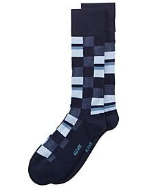 Men's Mosaic Boxes Dress Socks, Created for Macy's