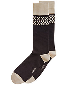 Alfani Men's Tiled Dress Socks, Created for Macy's