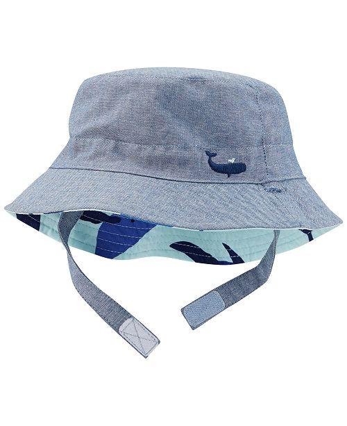 15d316b93fb Carter S Whale Print Sun Hat Baby Boys All Kids Accessories