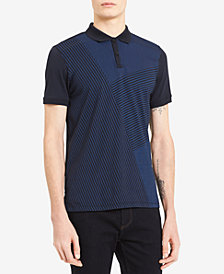 Calvin Klein Men's Lineal-Print Polo