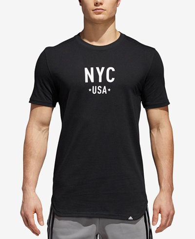adidas Men's ClimaLite® Elevate NYC Graphic T-Shirt