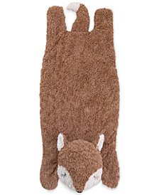 Cuddle Me Luxury Plush Tummy Time Mat Blanket Brown Fox
