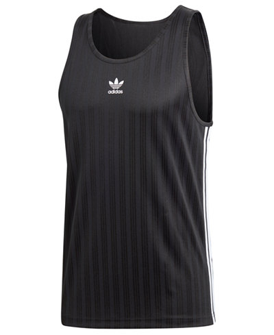 adidas Men's Originals Jacquard-Stripe Tank Top