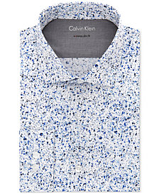 Calvin Klein X Men's Extra-Slim Fit Thermal Stretch Performance Abstract Dress Shirt